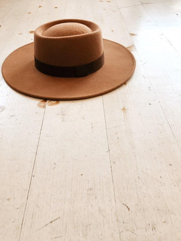 In The Now Soft Wide Brimmed Hat in Black