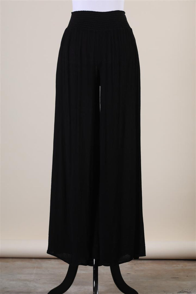 The Garbo High Waisted Drape Leg Pant In Black or Olive