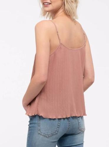 It Girl Lace Trim Camisole Top In Blush or Black
