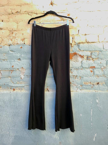 The Harlow Black Denim Pant (USA Made, High Rise)