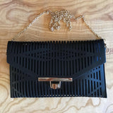 Dance Party Neo Clutch In Midnight Black