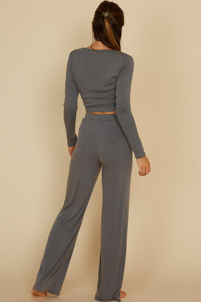 Style Lounge Luxe Two Piece Set In Charcoal