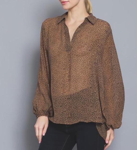 Style Envy Perfect Lux Leopard Blouse