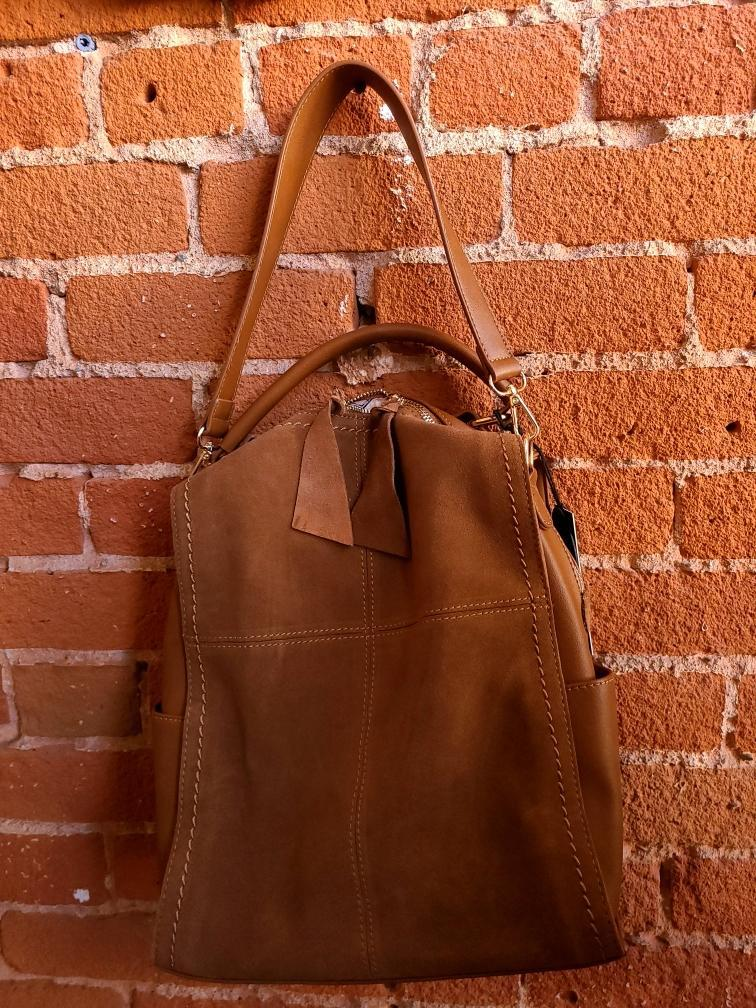Real Leather Multi Use Tote (Backpack, Shoulder and Handbag Strap Function)