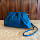 Street Snap Slouchy Chic Shoulder Bag In Denim Blue