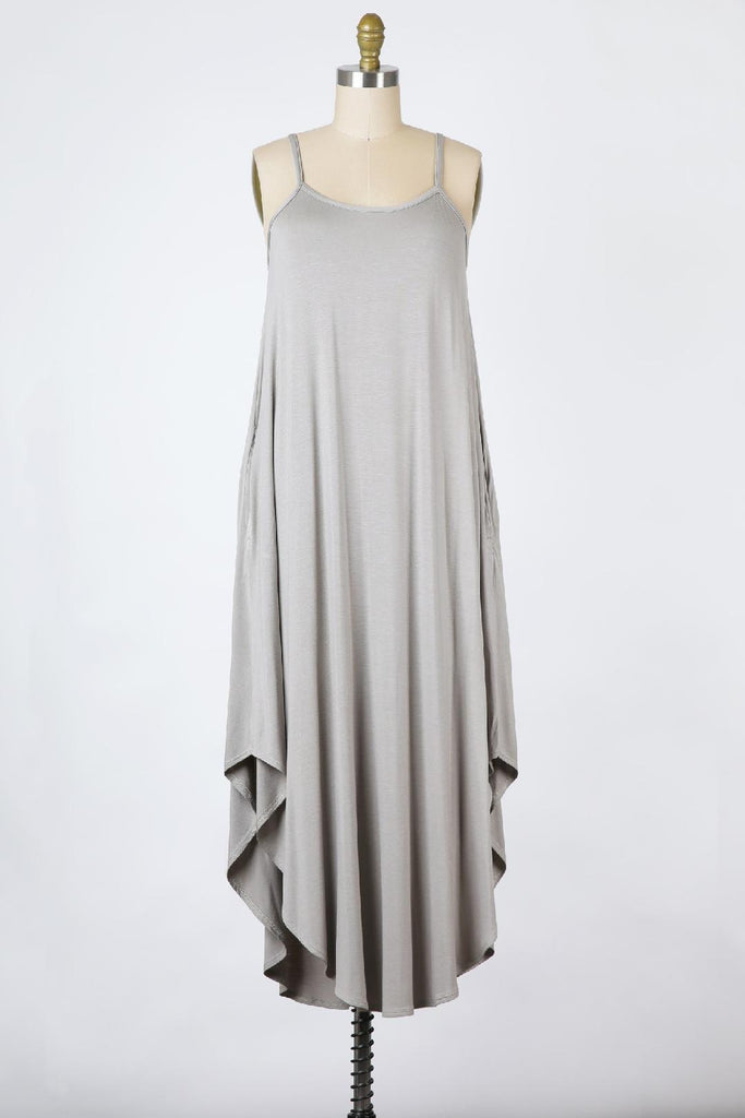 Grace Jersey Maxi Dress in Feather Grey