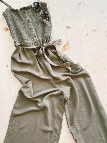 Twist and Shout Knot Front Jumpsuit in Soft Mint