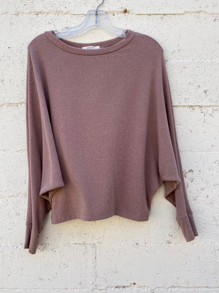 Softest Dolman Top In Mauve