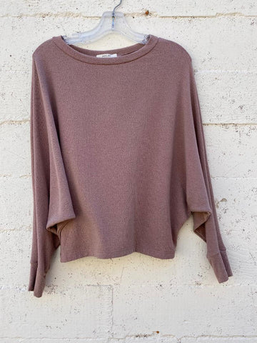 Soft Rose Quartz Twist Front Knit Sweater