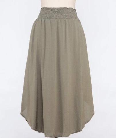 Canvas Twill Slouchy Chic Drawstring Pant In Grey