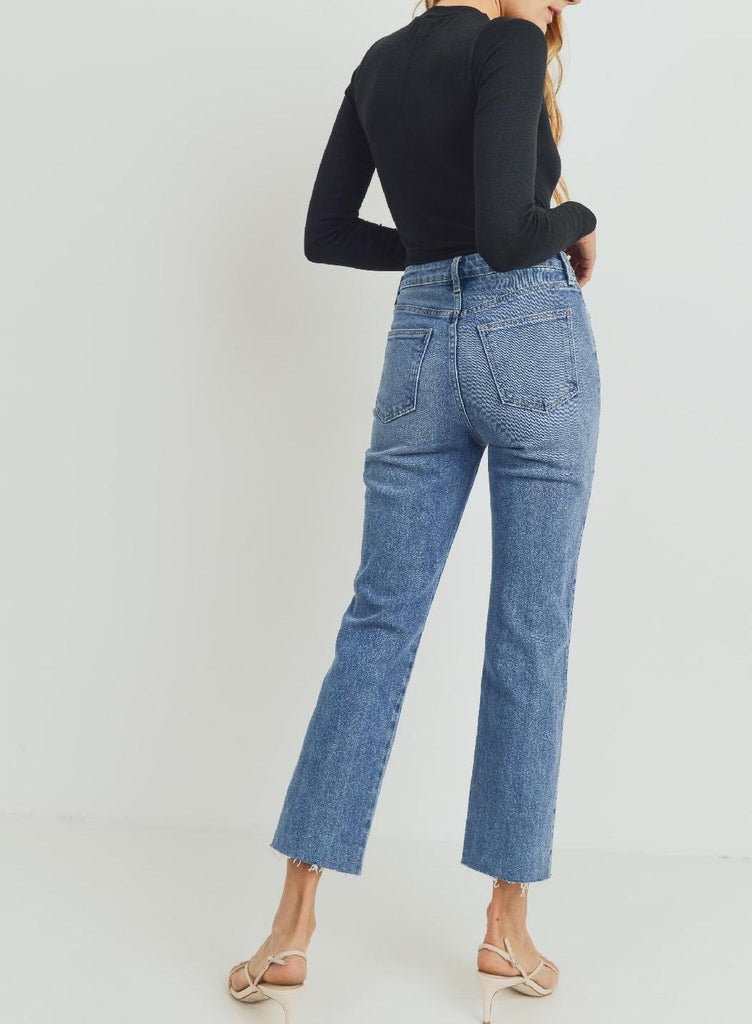Classic High Rise Straight Jean (Usa Made)