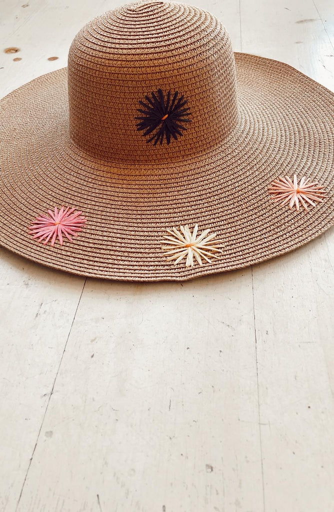Flower Fields Woven Sun Hat