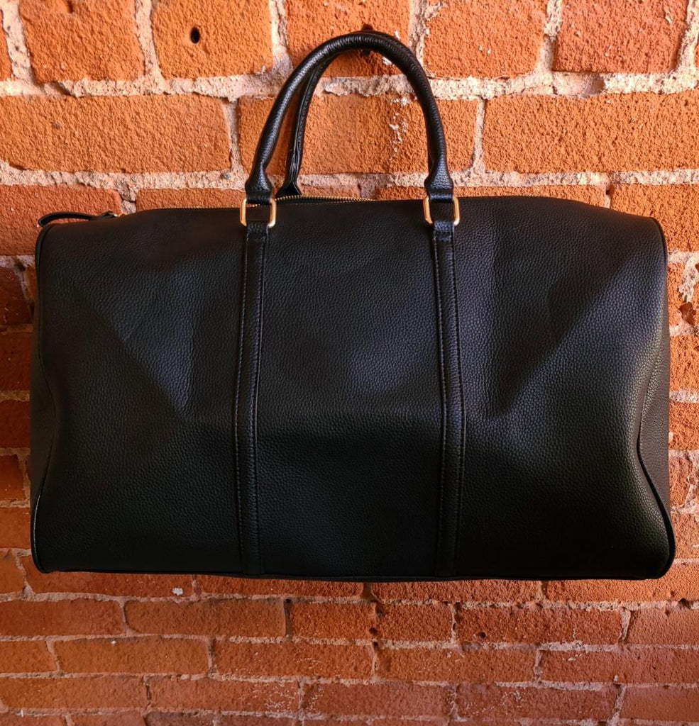 Vegan Leather Weekender Tote