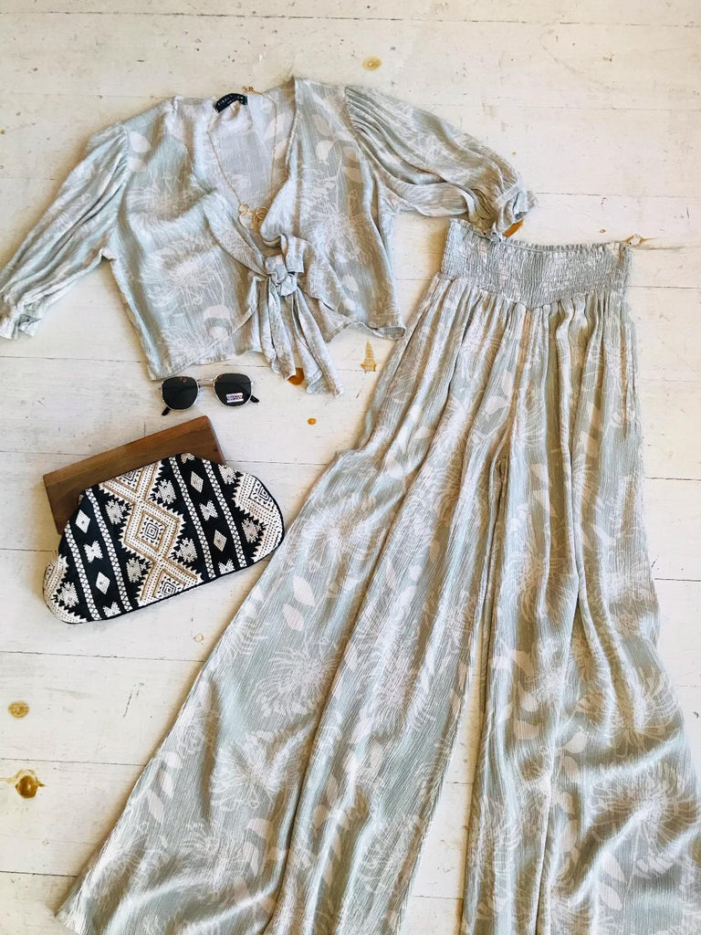 Santa Maria Two Piece Set Available in Sage or Sand