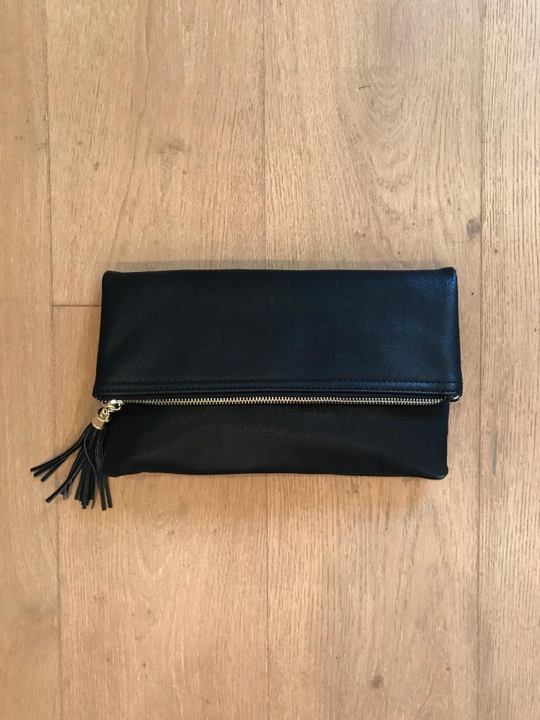 Classically Beautiful Black Tassel Clutch