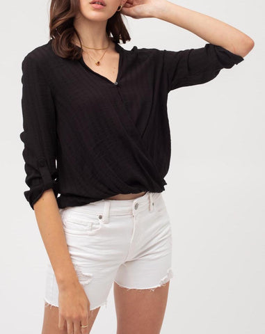 Emma Ruffle Sleeve Top In White