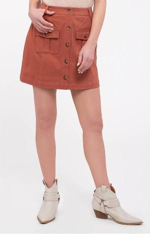 Bohemian Dreams Maxi Skirt In Soft Rust