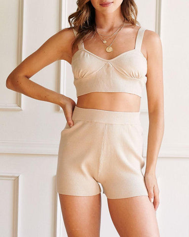 When In Rome Ruche Front Crop Bralette Top In Natural