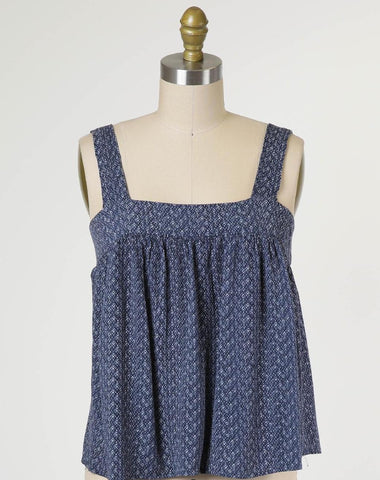 The Natalie Soft Cami Maxi Dress in Slate Blue