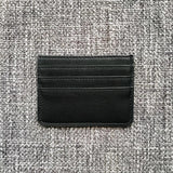 Minimalist Sleek and Chic Black Card Holder