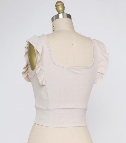 Sunshine Knot Front Top