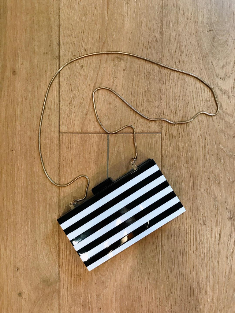Mod Striped Vintage Inspired Box Purse