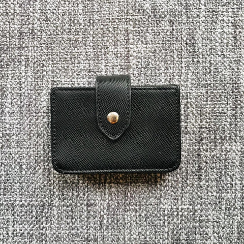 Essential Chic Classic Black Vegan Leather Wallet
