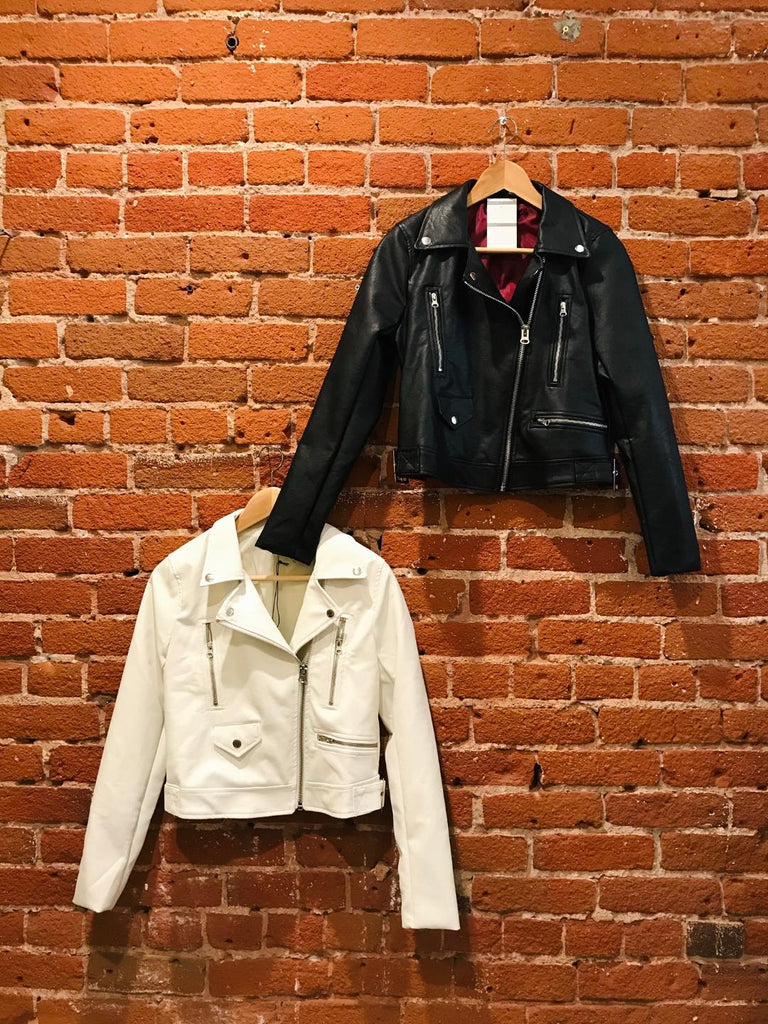 Rebel Babe Vegan Leather Moto Jacket