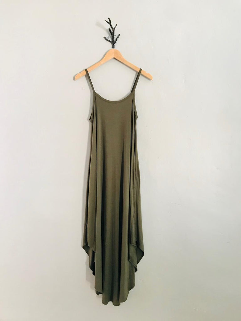 Grace Jersey Maxi Dress in Olive, Black, Grey