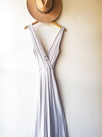 Wayside White Cotton Wrap Dress