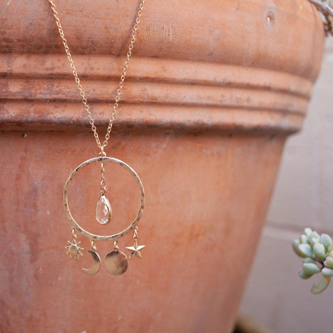 Little Initial Necklace In Gold