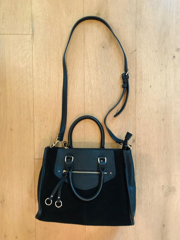 Essential Black Suede Bag
