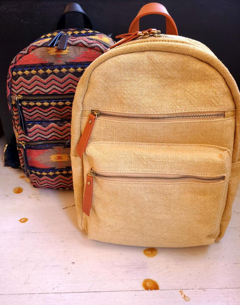 Day Tripper Woven Canvas Backpack (2 Colors)