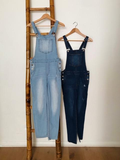 Overall Awesome Light Denim Overalls Light and Dark Denim