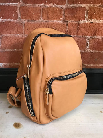 Jet Setter Vegan Leather Backpack in Ivory
