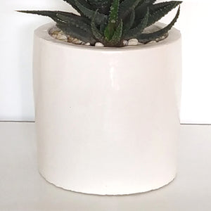 'Basic Cylinder' (white) - PLANTER ONLY