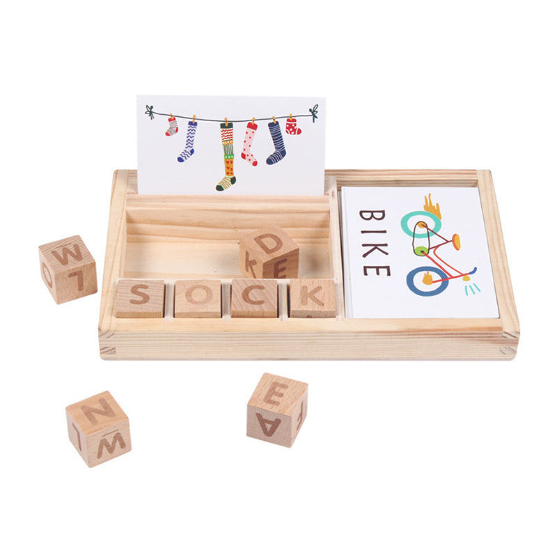 Montessori Educational Alphabet Spelled Wooden Board