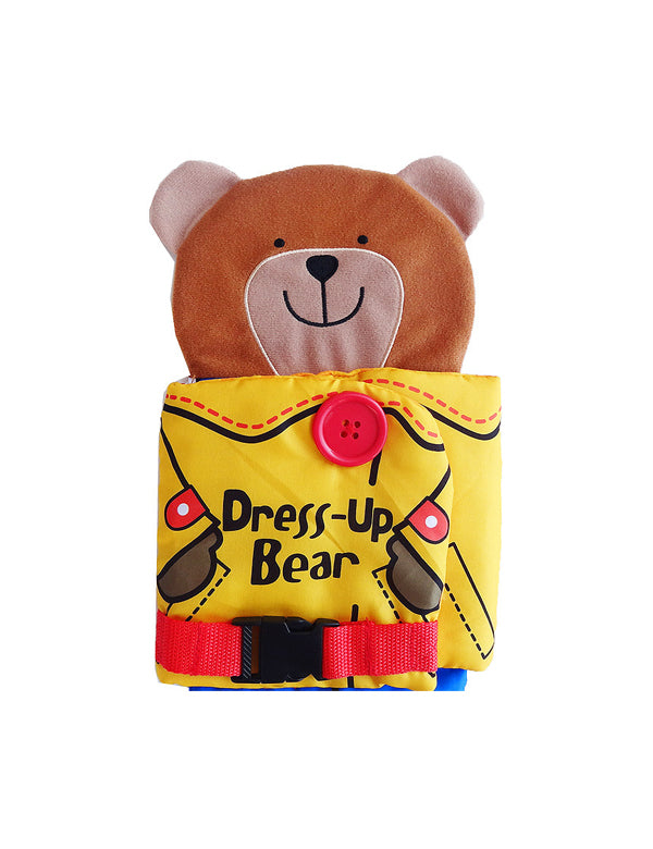 Bear Wear Cloth Button Zipper Book Soft Cloth Book For Baby