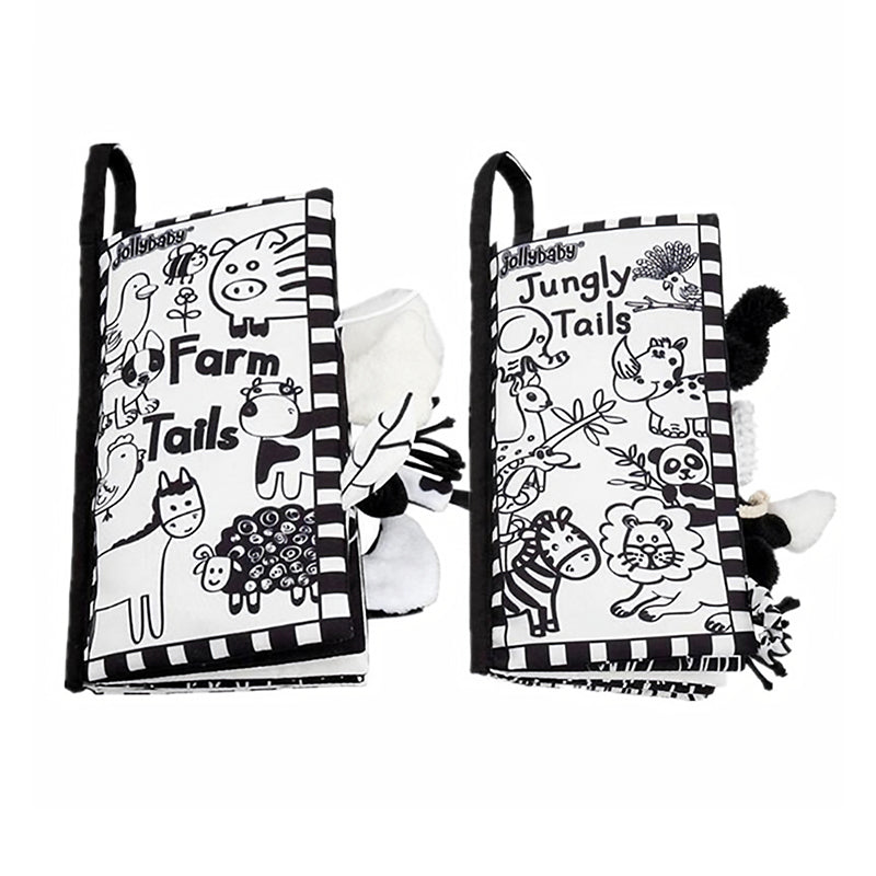 Black And White Tail Cloth Book