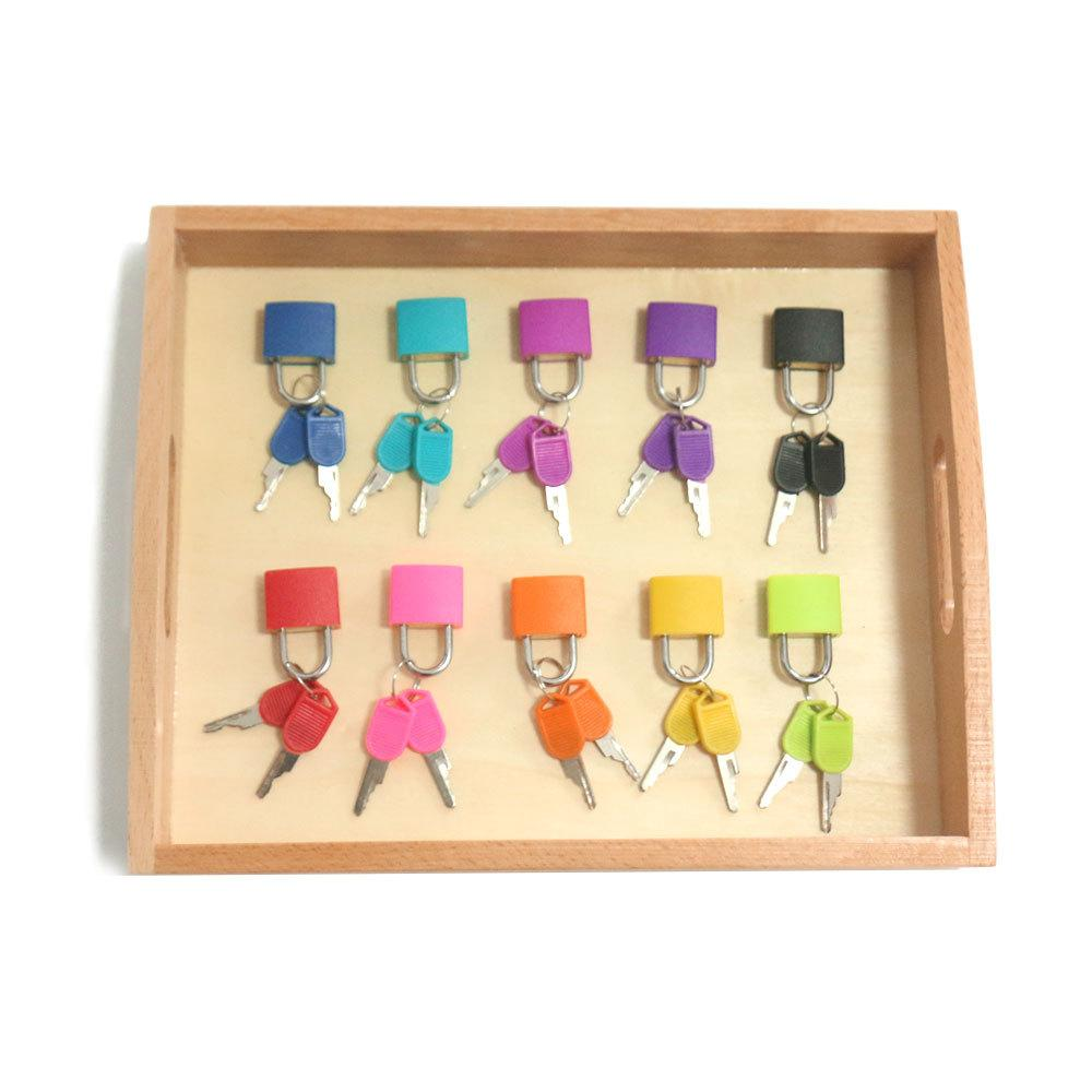 Montessori Matching Colorful Keys and Locks Set Toy
