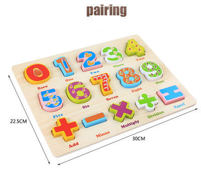 Children Wooden Number Alphabet Board Toy