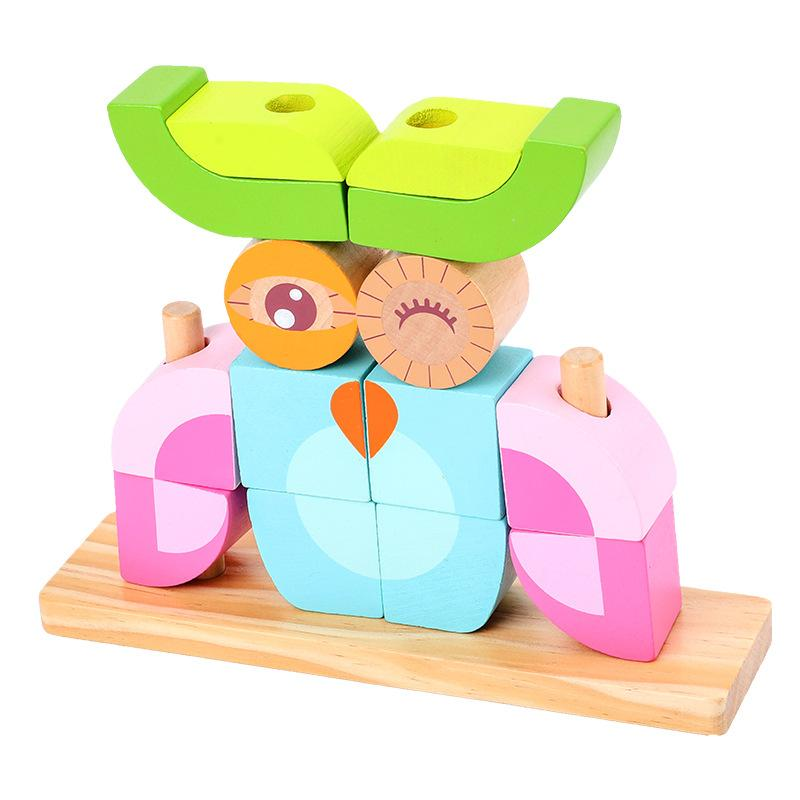 Wooden Animal Stacking Blocks Toy