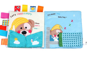 Cloth Book - It's Time To Sleep, Puppy Dog Baby