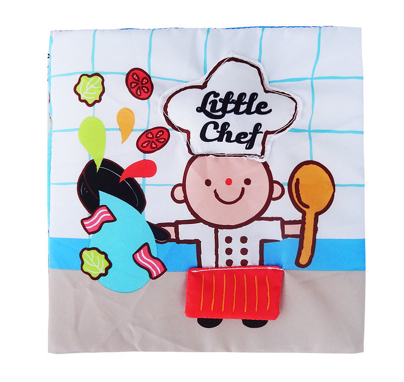 Montessori 3D Cloth Book - Chef, Bath, Potty Time