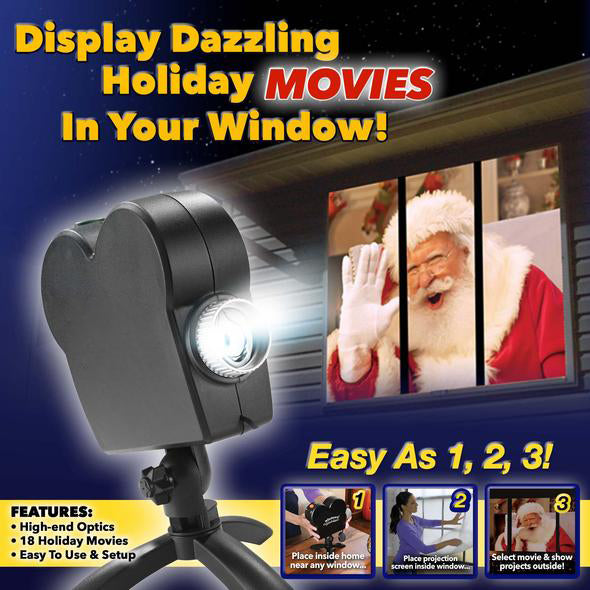 Window Projector 12 Movie Festival Projection Lamp Christmas Outdoor Garden Decoration