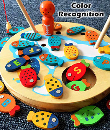 Magnetic Wooden Fishing Toy