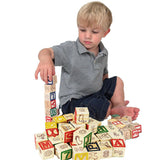 Classic ABC Alphabet Reading Block Cart