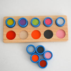 Montessori Memory Colorful Material Tactile Wooden Sensory Toys