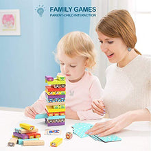 Load image into Gallery viewer, Colored Wooden Blocks Stacking Board - with 51 Pcs