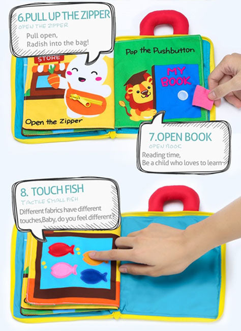 Montessori 3D Baby Cloth Book - New in 2020